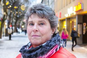 Gunhild Kroksgård, 67 år, Nälden: – Jadå, januari är som vilken månad som helst. Hur du handskas med dina pengar är en uppfostringsfråga.