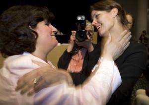Nöjd förlorare. Dala-favoriten Veronica Palm blev inte ny ordförande för s-kvinnorna. Foto: Scanpix