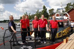 Magnus, Sofi, Martin, Markus, Urban och Sune Jonsson – och deras kamrater, visar Rescue Gustaf B Thordén, som är såväl säkrare som snabbare än företrädaren, Rescue Folke Östman.