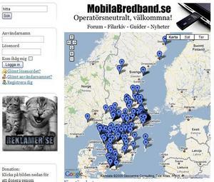 På kartan kan besökaren klicka på pilarna och se var personer som dömts för sexualbrott bor. Där finns också deras namn, personnummer, adress och en länk till brottsmålsdomen som sedan går att läsa i sin helhet. Där finns personuppgifter om fem män från Gävle, en man från Sandviken och en man från Norduppland.