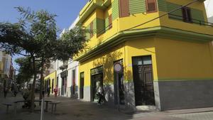Många av husen i Telde är färgglada.