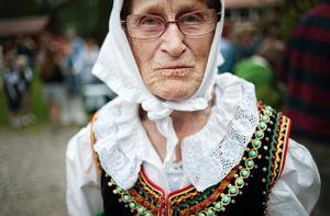 Vanja Grafver klädde sig fin i en sydpolsk folkdräkt.