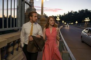 Oscarstippade Ryan Gosling och Oscarstippade Emma Stone iden Oscarstippade regissören Damien Chazelles Oscarstippade musikal