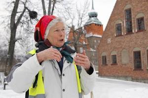 Anna Andersson är missnöjd med hur bussarna går mellan Östersund och Änge.