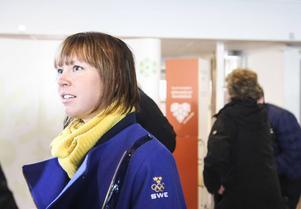 Åsarnas Emma Wikén anlände till Åre Östersund Airport på tisdagsmorgonen.