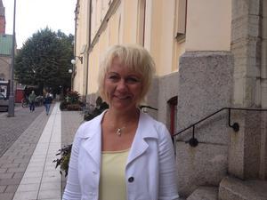 Positiv känsla. Även om KD har det tufft på riksplanet, så tycker Susanne Lindholm (KD) att känslan i Örebro är mycket positiv.Foto: Carina Tenor