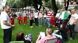 Nollningen är i full gång och nya studenter välkomnas till Gävle.
