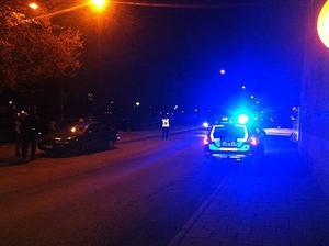 Polisen var på plats vid olyckan.