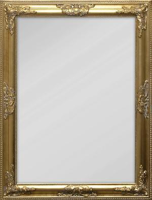 GULDKANT. Spegeln med guldfärgad träram kommer från EM och kostar 499 kronor.