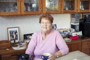 I dag. Solveig är pensionerad sedan några år tillbaka men minns allt från tiden i korvkiosken.Foto: Veronique Slottberg