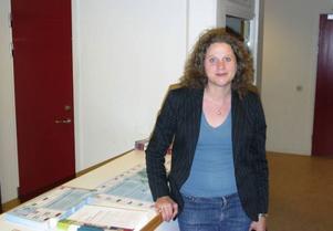 Maria Brolinson, lärare på Bäckedals Folkhögskola, är nöjd med den informationskväll hennes elever arrangerade inför EU-valet.