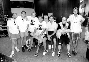 Storsjöyran 1995 (95-07-31). Anders Eriksson, Bengt Eriksson, Janne Carlsson, Lars Lindqvist, Lars Sillrén Pecka Magnusson,  Thomas Persson