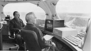Rune Flyrén och Ture Lindberg i ett av tornen när det begav sig.