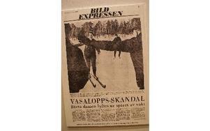 Vasaloppsskandal skrev Expressen 1968 när kvinnorna lyftes ur spåret.