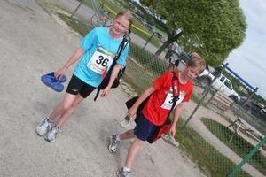 syskonen Ronja och Rickard Hugg, Forsa OK, var litet trötta i fötterna efter sina lopp, Rickard vann 2.5 km Herrar och Ronja sprang in som sexa på samma distans för Damer.