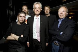 Männen bakom festivalen where the action is. Från vänster: Patrick Fredriksson, Ola Broquist, Olle Zetterberg, Stefan Pettersson och Thomas Johansson.