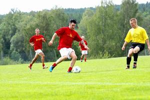 Markus Fagervall i anfallet sprang mer än de flesta. Foto:Johan Källs