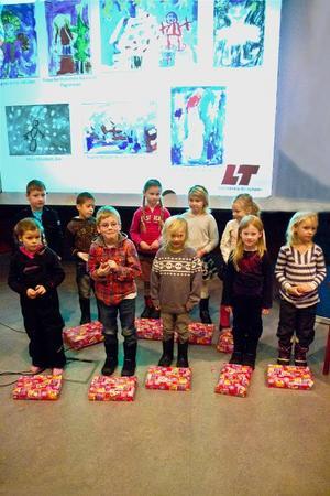 Pristagarna i ålderklassen 0 till 6 år tilldelades sina priser på lördagen.