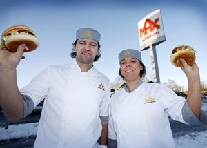 Max hamburgare i Gävle.