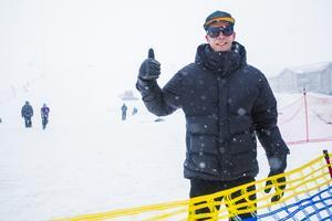 Johan Eriksson gav tummen upp för dagens insatser.