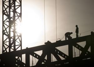 Bostadsbyggande. Långa handläggningstider sinkar byggandet av nya bostäder.foto: scanpix