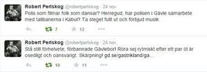 Har polisen ett samarbete med talibanerna? Den erfarne sportjournalisten Robert Perlskog gick till hårt angrepp mot Gävlepolisen. Han riktar också en uppmaning till Gävleborna: