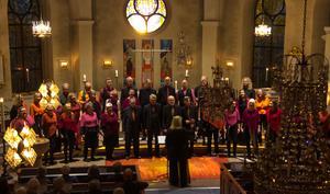 Roslagens vokalensemble och Visby vokalensemble gav konsertprogrammet Stars i Norrtälje kyrka.