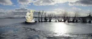 Så här tänker sig Lars Luttropp och Georgianna Kralli att en Neptunus-skulptur se ut på Kaninholmen.