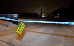 Handelsträdgården spärrades av sedan en död man hittats inne på området.FOTO: MIKAEL ERIKSSON