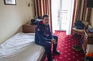 Per Hellmyrs gör sin nionde VM-turnering. Vinner Sverige mot Ryssland i morgon lördag så blir det hans femte VM-guld.