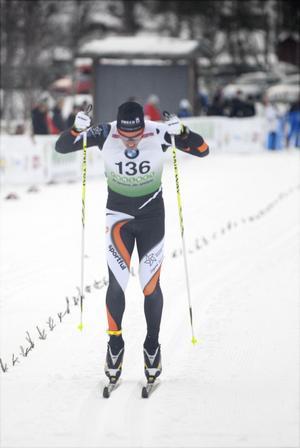 Calle Halfvarsson, Falun-Borlänge, slutade på en fin femteplats i premiären i Bruksvallarna.