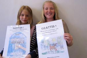 Ebba Eriksson och Emilia Stålhandske prisades.