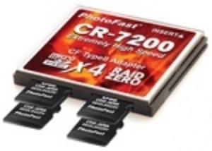 MicroSDHC kan förvandlas till Compact Flash