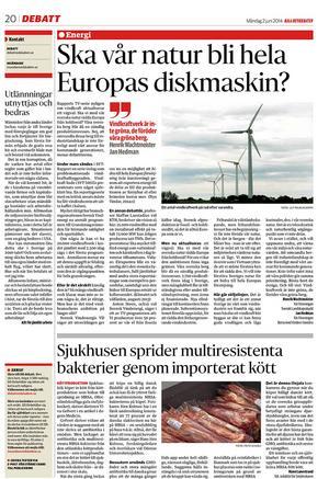 Dala-Demokraten 2 juni 2014.