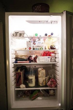 En säsongares kylskåp.