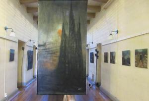Interiör från Peter Endahls utställning på Kulturhuset.