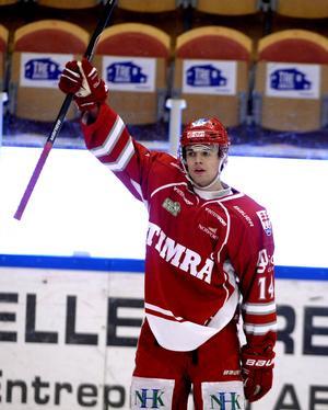 Emil Pettersson var poängbäst i Timrå IK den här säsongen. 35 poäng på 52 matcher blev det för centern.
