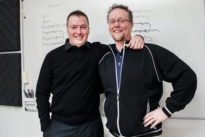 Jesper Sverin, ExCal och Tommy Ramström, Avalon Innovation, inleder ett samarbete som ska erbjuda bred lokal ingenjörskraft och förhoppningsvis leda till fler jobb.