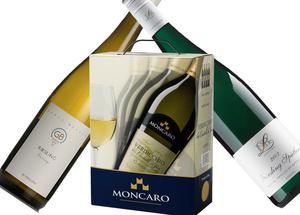 Tre vinnarviner. Den halvtorra tysken Dr Loosen Bernkasteler Kurfürstlay Riesling Spätlese och torra Georg Breuer Riesling Sauvage från samma land fick flest röster i sina kategorier i vinjournalisternas omröstning om mest prisvärda vita vinerna 2008. Bästa vita box blev italienska Moncaro Verdicchio dei Castelli di Jesi Classico. Vinjournalisternas favoriter