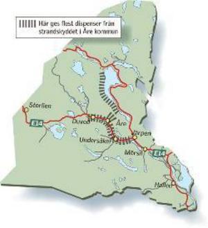 Många vill bygga vid områden kring Åresjön, Kallsjön och Indalsälven. Hälften av de 53 dispenser som gavs i Åre kommun i fjol gällde dessa områden.