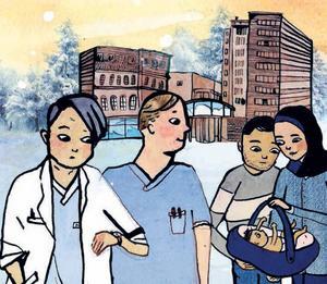 Gävle sjukhus har en huvudroll i Matilda Rutas nya barnbok.