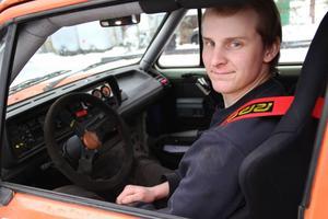 Oskar Eriksson var ende Gnarpsbon som ställde upp i Gnarpstrofén – han kom tvåa i C-klassen.