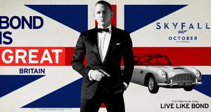 Nu fyller Bond 50 år - och ingår i en reklamkampanj för Storbritannien.