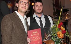 Ulla Simonsson, Olars Ulla, fick pris som Årets företagare 2012. Hon kunde själv inte ta emot priset, utan skickade sönerna Rickard och Henric  i sitt ställe. Foto: Anders Norman/DT