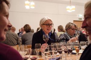 Lisa Solberger, sommelier, hade komponerat en måltid med sju rätter och tillhörande viner.