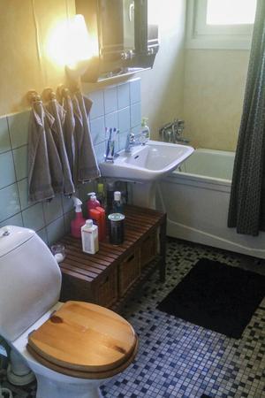 Så här såg badrummet ut innan renoveringen.