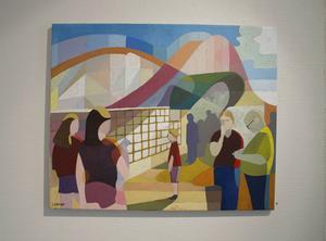 Tivoli, akrylmålning av Lennart Samor.