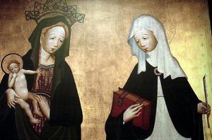 Jungfru Maria och Den heliga Birgitta.
