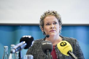 Finansborgarrådet Karin Wanngård (S) var med och presenterade utredningen om Stockholms förutsättningar för att ansöka om och hålla de olympiska vinterspelen och Paralympics 2026.