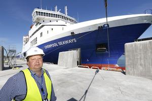 Peter Lundman, driftchef tycker arbetet med att färdigställa den nya hamnen har varit intressant.